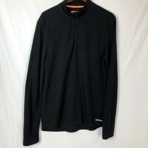 OMNI-WOOL  Mens Size XL Quarter Zip Wool Sweater